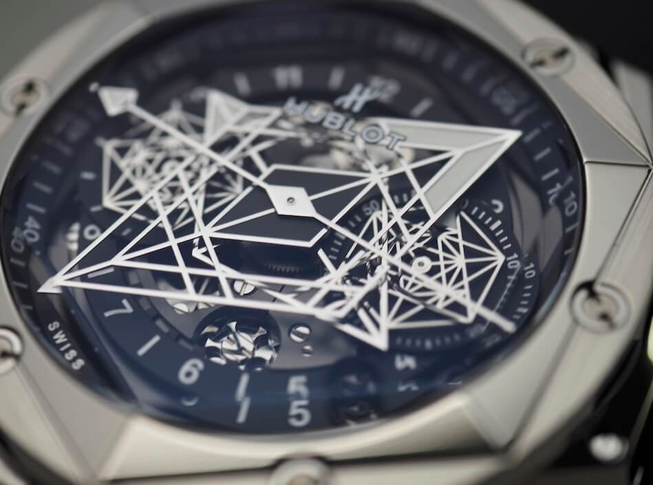 Dial Of replica Hublot Big Bang Sang Bleu II